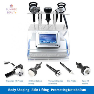 New Portable 5 in 1 40K Cavitation Vacuum Multipolar RF Body Slimming Weight Loss Smooth wrinkles Machine
