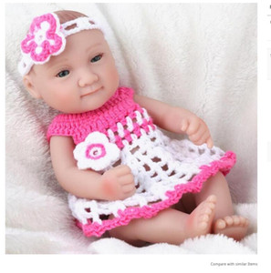 Full Body Silicone Real Looking Soft Vinyl Reborn Baby Dolls for Gifts 10 Inch 28cm Lifelike Newborn Doll