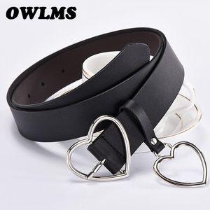 Newest Design Heart Buckle Belt Girl HOT Pin Buckle Belts Student Cute Gifts for Girlfriend Jeans Punk Bar Belt Wide Women