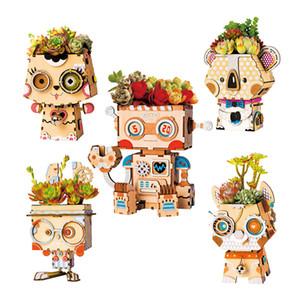 Robotime DIY Planta Flor Potenciômetros de Madeira Decoração Decoração Montagem Modelo De Construção Kit Brinquedos Para Crianças Audlt Drop Shipping LJ200925