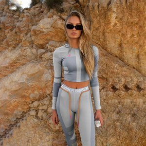 Women Two Piece Pants Fashion Letter Printed Tracksuits Long Sleeve Tops Womens Two Piece Sets Actice Outfits Yoga Sportsuits
