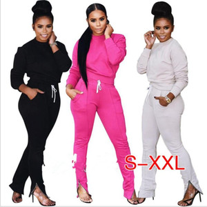 2020 Tracksuit Women Two Piece Set Top and Track Pants Leggings Sexy Bodycon 2 Piece Sweatsuit