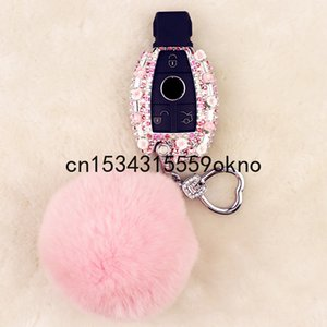 Key Case For Benz C200l gla200 glc260 cla200 gle400 Creative Diamond Keychain Car Accessories For Girls