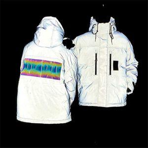 Men's Jacket Down Hoodie Antumn Winter Coats Reflective Men and Women Thick Warm Jackets Fashion Style Windbreaker Coats