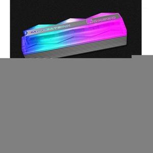 Jonstbo M.2-2 الإضاءة الملونة M.2 2280 SSD غرفة التبريد الصلبة الحالة الصلبة القرص تبريد المبرد 5 فولت 3pin الحرارة تبديد الحرارة بارد 1