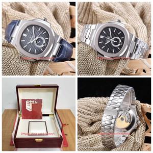 20 Стиль высокого качества Часы 40,5 5726A 5726 / 1A-010 из нержавеющей стали Прозрачная Механические Автоматические Мужские Мужские часы с коробкой Papers