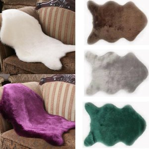 New Arrival Faux Sheepskin Chair Cover Pad Skin Warm Carpet Fluffy Fur Room Rug Soft Australian Faux Sheepskin Sofa Rug