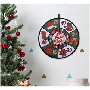 Christmas Balls Dart Board Game Set Xmas Kids Dart Board 4 Sticky Balls Safe Lovely Christmas Family Balls Dart Board bbyOTE lg2010