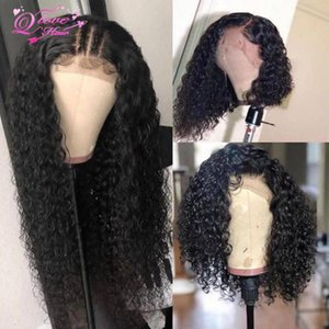 13x4 Lace Front Wigs 100% Brazilian Human Hair Lace Frontal Wigs Curly Wave Remy Hair 150% density Pre Plucked