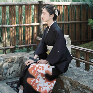 Этническая одежда традиционные японские кимонос костюм кимоно косплей юката женская одежда женская девушка obi haori 11205