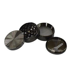 DHL SharpStone Flat Concave Zinc Alloy Dry Herb Grinders 50mm 4 parts Tobacco Grinder herb grinder cnc te Spice Crusher AAD2340