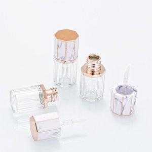 5ml DIY Marmor leeren Lip Gloss Tubes nachfüllbar Lip Glaze Paket Flaschen für DIY Lip Beispielreise FWF2264
