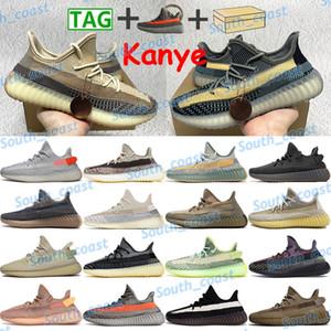 Kutu Kanye Yansıtıcı Koşu Ayakkabıları Erkek Kadın Sneakers Kül Mavi Inci Taş Küliş Dünya Zyon Karbon Fade Siyah Kırmızı Beyaz Spor Eğitmenleri