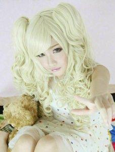 Beautiful Blonde Harajuku Long Wavy Lolita Cosplay Party Wig Hair