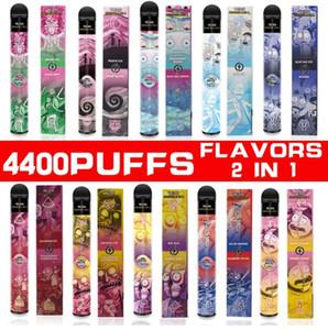 Top Qualität Original 4400Pepps 2in1 Aromen Einweggerät Big Dampf 12ml Vape Pen vcan Ehre RM mit starken Akku Schneller Versand