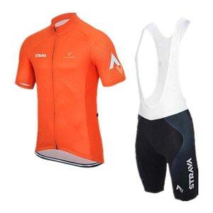 2020 Strava Topsport 2020 Cycling Team Jersey Sports d'été Cyclisme Jersey Vêtements Homme à manches courtes / Cuissard Set Bicicleta Sportswea
