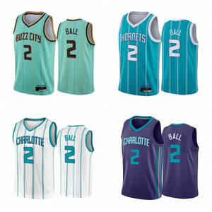 Mens 2020 2021 Draft Pick 2 LaMelo Ball Jersey Charlotte