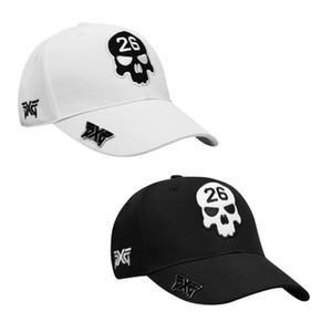 Pxg   skull 26 latest golf hat is one size fits all clips, available in black and white