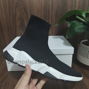 2020 Sock Shoe velocidade malha Trainers Casual Sneakers Speed ​​Trainer Sock Raça Shoes Moda Preto Homens Mulheres Esportes Chaussures Sapatinho