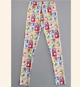 Donna Elastic Waist Legging Sailor Moon Stampato Elastic Legging Aisa Taglia S-4XL Legging