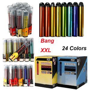2000 Puffs Bang XXL Одноразовый Vape 6 мл Устройства устройства 800 мАч Пустые E Cigarettes Стартовые наборы 24 Цвета