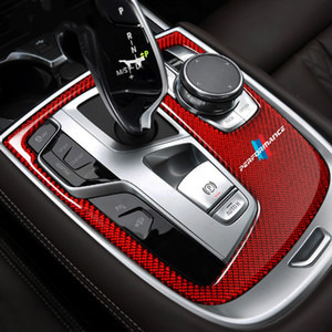 Car Interior Moulding Carbon Fiber Stickers Central Control Gear Shift Panel Cover for BMW G11 G12 2016 7 Series Accessories