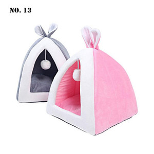Creative Washable Long Plush Dog Cat Pet Bed Memory Cotton Ear Design Soft Pet House Basket Puppy Cushion Mats