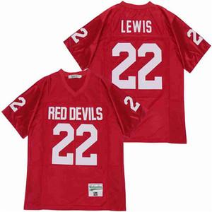 الرجال 22 راي لويس المدرسة الثانوية كاثلين لكرة القدم جيرسي فريق بعيدا المنزل الأحمر تنفس القطن الخالص مخيط والتطريز نوعية جيدة