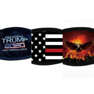 Trump Fa Suministros máscaras a prueba de polvo de la elección de impresora universal de protección para hombres y mujeres estadounidenses Bandera de ciclo Máscara Dhc599