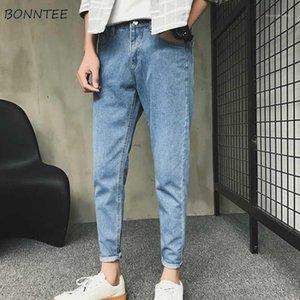 Hombres jeans ocio sólido tobillo longitud Daily streetwear simple estilo coreano Harajuku New Mens Chic Chic Trendy Retro Retro Simple1