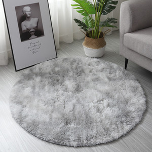 Fluffy Shag Fur Rug Round 60cm 80cm 120cm Fuzzy Abstract Area Rugs for Bedroom Living Room Bedroom Nursery Decor Furry Carpet
