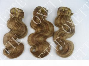 Oxette Fashion Ombre Highlighted Color #27 30 Virgin Indian Human Hair Weave Loose Body Wave 4 bundles