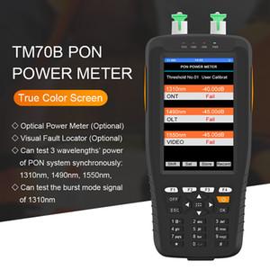 광 파워 미터 핸드 헬드 PON 광섬유 전력 측정기 적색 라이트 FTTH 온라인 테스터 네트워크 탐지기 1310 / 1490 / 1550nm