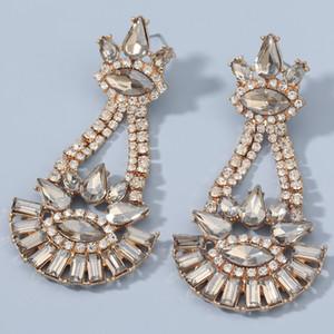 Femmes Fleur Dangle Boucles D'oreilles Coloré Strass Danger Boucles d'oreilles Drop Boucles d'oreilles de haute qualité Bijoux Accessoires pour femmes