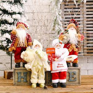 الجملة 4 نمط عيد الميلاد سانتا كلوز دمية الديكور الإبداعية سانتا كلوز عيد الميلاد حقيبة الظهر الجدول لعبة الدمية هدية زخرفة