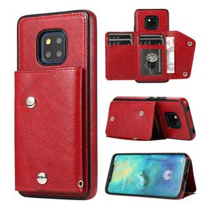 Deri Cüzdan Hawei Mate20pro P30pro Kart Sahibi Standı Telefon Arka Kapak Kılıf İçin Huawei P30 Mate20 Pro Lite Coque