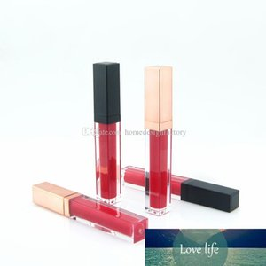5ML Lip Gloss Bottle with Black Rose Gold Cap Plastic Empty Cosmetic Lip Oil Refillable Tube Liquid Lipstick Storage Bottle