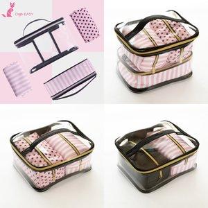 Новый портативный пвх вчетвером портативные многофункциональные четыре чехлов косметического хранение косметического bagwash мешок мешок хранение IuNwO