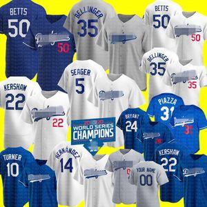 Dodgers Jersey Cody Bellinger Mookie Betts Clayton Kershaw Enrique Hernández Jersey de Los Ángeles Corey Seager Justin Turner jerseys BRYANT