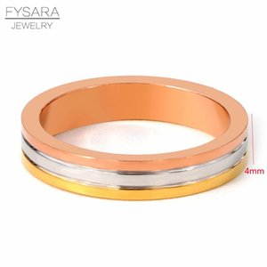 Fysara Engagement Three Layer Rose Gold Ring For Women Couple Love Ring Stainless Steel Ring Lovers Gift 2019 Wholesale sqccqy bdecoat