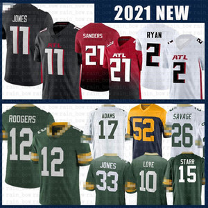 Aaron Rodgers Jones Matt Ryan Julio Jones Jones Todd Gurley II Football Jersey Love Davante Adams Darnell Savage JR Kevin King Bart Starr Sanders