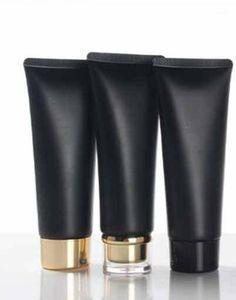 Черный 100 мл пластиковый крем для крема 100 г макияж косметический уход за кожей лосьон трубчатый сливочный сыр упаковка контейнеров бесплатная доставка1
