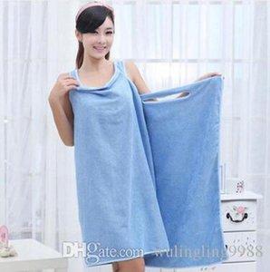 Magic Bath Towels Lady Girls Spa Shower Towel Body Wrap Bath Robe Bathrobe Beach Dress Wearable Magic Towel 9 Color 10 Pcs