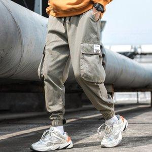 mul2f Lianxu новое падение Комбинезон случайные украшения Pasted спецодежду на открытом воздухе 2020 наклеенными Тканевый мужской развесных ноги, мужские брюки xvfLx