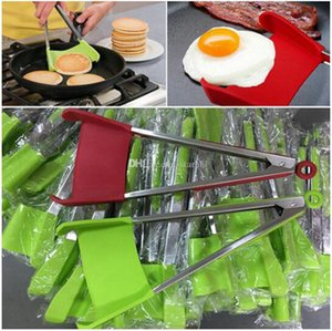Silicone Food Clip Spatula Tongs Non-stick Heat Resistant Food Clip Grip Stainless Fruit Vegetable Tools WY328DXP