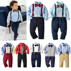 Baby Boys Outfits Set Infant Formal Suit Cotton Boy Suits Costume Toddler Wedding Birthday Party Costume Blazer Gentleman Suit 201127