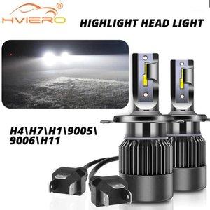 2pcs Fog Light Car Headlights H7 H4 H1 Led Headlight Turbo Auto Bulb 50W 5000Lm Headlamp 6000K Led Headlightss Bulbs Canbus H111