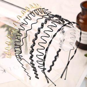 1pc Fashion Unisex Black golden Wavy Hairband Mens Women Hair Head Hoop Bands Accessories Sport Headband Headdress Styling Tools