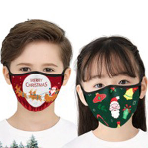 Christmas Kids Adult Face Masks Printed Xmas Face Masks Anti Dust fog Mouth Cover Fashion Breathable Washable Reusable Mouth Mask VT1862