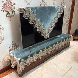 copertura sala Europa di lusso ricamato blu tovaglia in pizzo fiore in tessuto TV comodino tovaglia HM1898